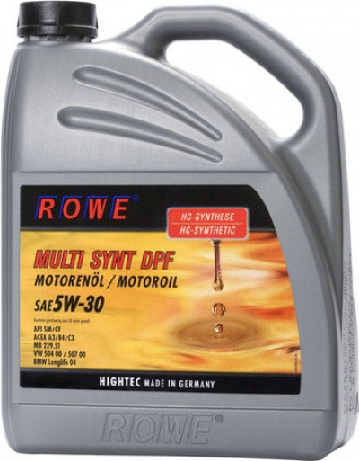 СКИДКА 21% НА ROWE HIGHTEC MULTI SINT DPF SAE 5W30 (5Л)